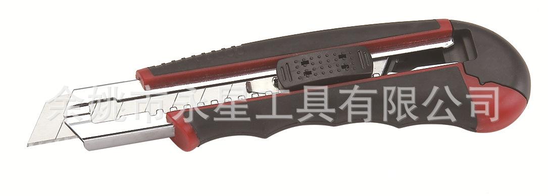 推荐 ABS二次注塑6连发折叠刀 壁纸刀金属可定制厂家直销