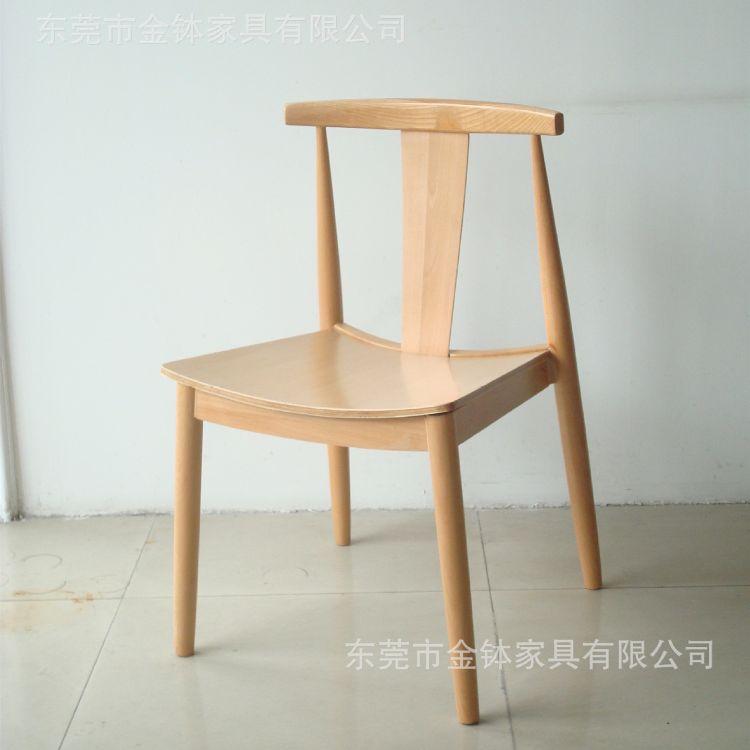 简约休闲实木餐椅 咖啡厅奶茶店餐椅 实木家具定制JB-W580H