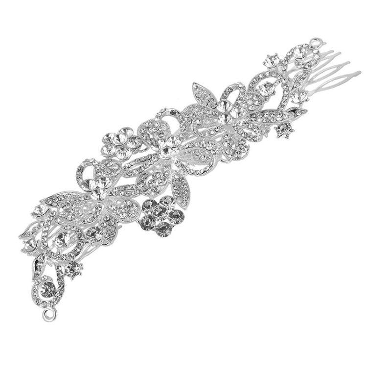 2018新款长式新娘发梳 镶水钻合金头饰婚庆配饰新娘饰品发饰皇冠