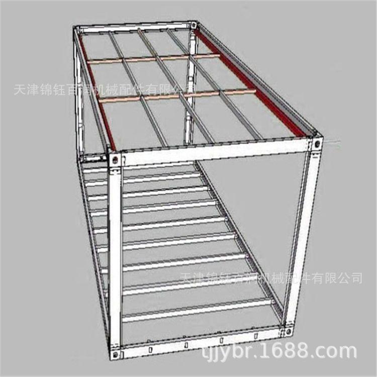 集装箱活动房 快拼箱 拼接箱框架吊头角件配件