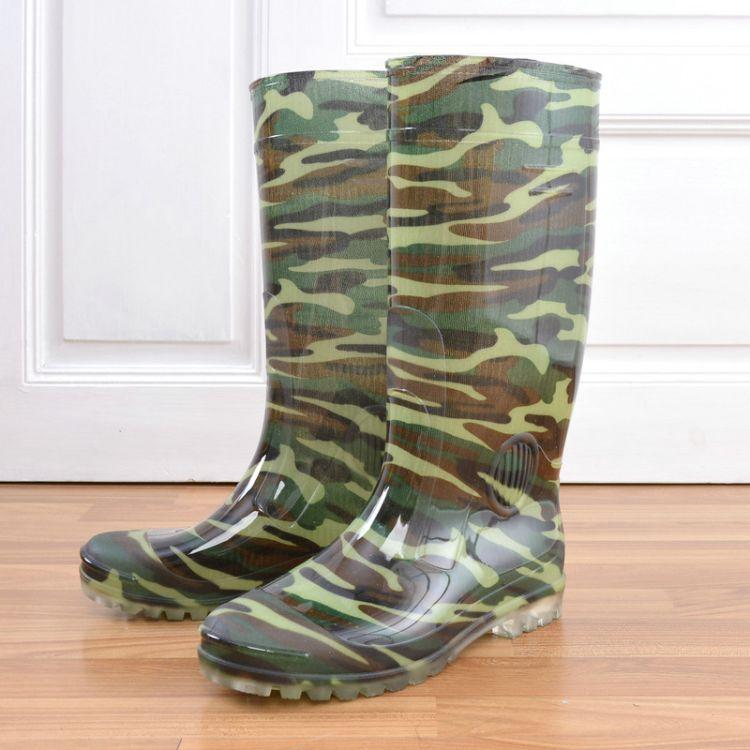 男式高筒雨鞋防滑耐磨雨靴劳保厚底胶鞋高帮保暖水鞋厂家厂价批发