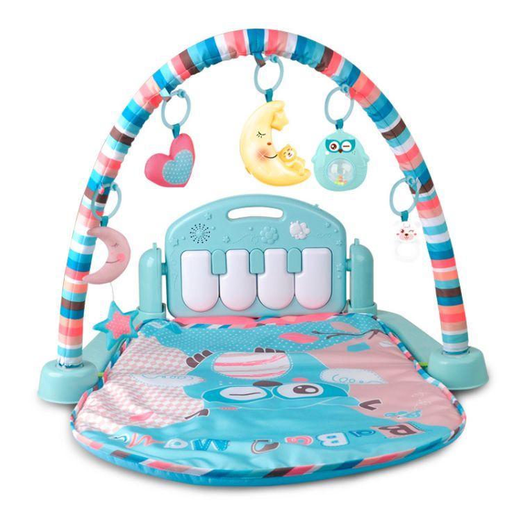 婴幼儿早教健身玩具 遥控音乐脚踏钢琴爬行垫 宝宝健身架 0-3岁
