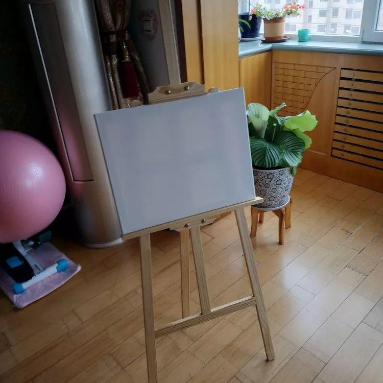 厂家批发加工定制纯棉实木细纹绷布油画框 白色实习长方形画框