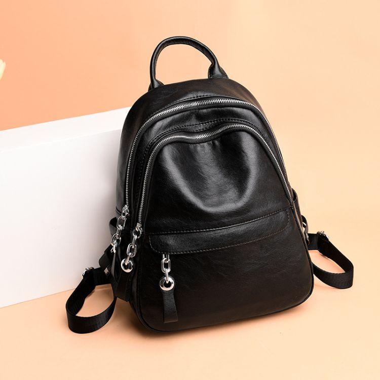 双肩包 真皮女包外贸 时尚羊皮背包2018新款韩版旅行背包一件代发