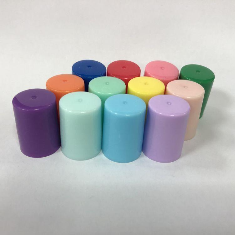 厂家直销 15牙彩色塑料滚珠盖 化妆品瓶盖 可定制