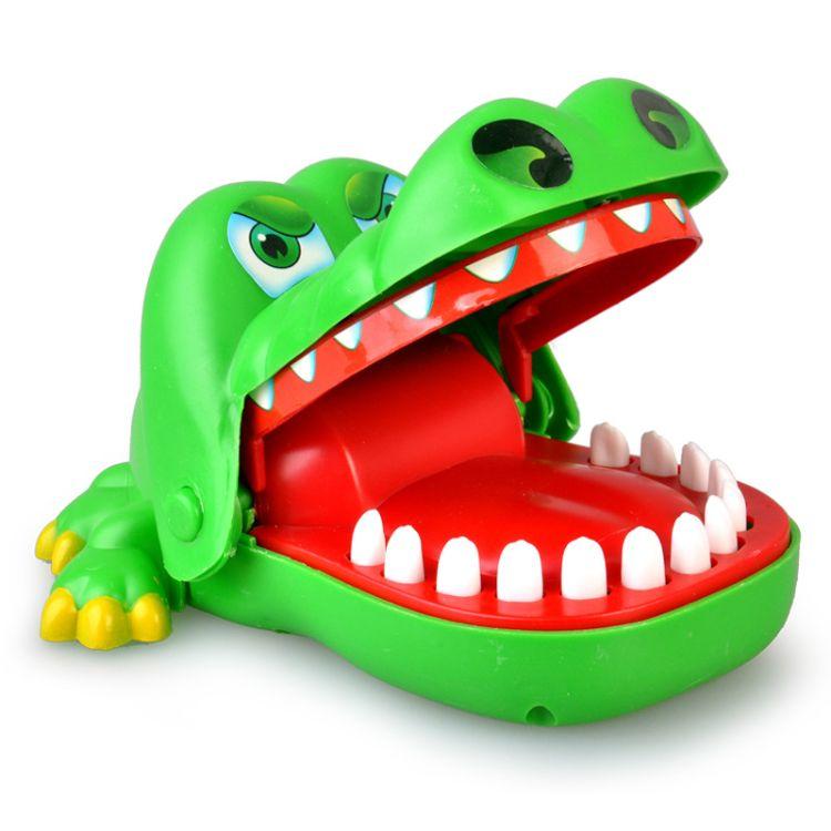 经典大号咬手指鳄鱼亲子互动整蛊拔牙游戏酒吧聚会创意整人玩具