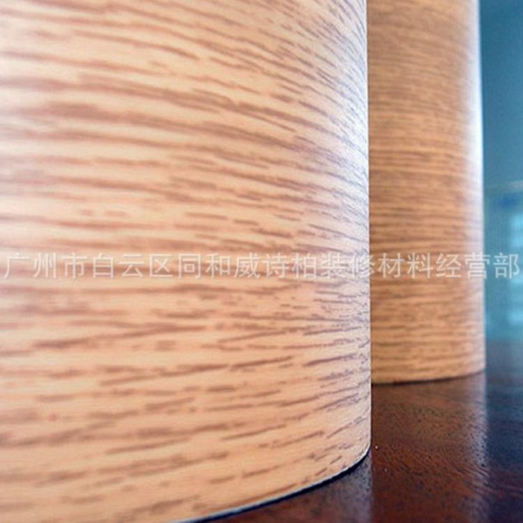 厂家直销威诗柏木纹纸PVC波音软片加厚木纹不干胶防水橱柜贴批发