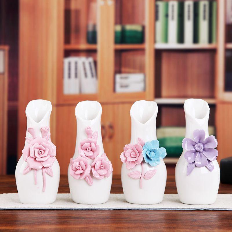 厂家直销景德镇陶瓷花瓶 现代时尚 陶瓷小花瓶 艺术花插