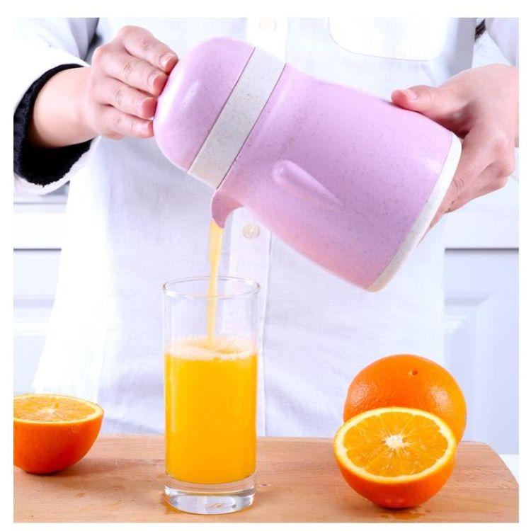 食品级小麦材质健康环保简易迷你手动榨汁杯创意便携多功能榨汁器