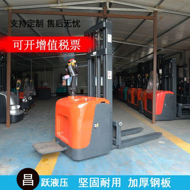 厂家直销站驾式全电动堆高车叉车 液压堆垛车电瓶叉车托盘车