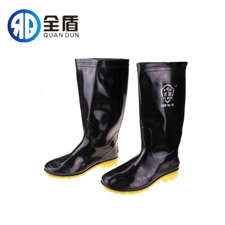 批发高低筒 防滑耐磨耐酸碱耐油雨靴高低帮劳保工矿水靴雨靴