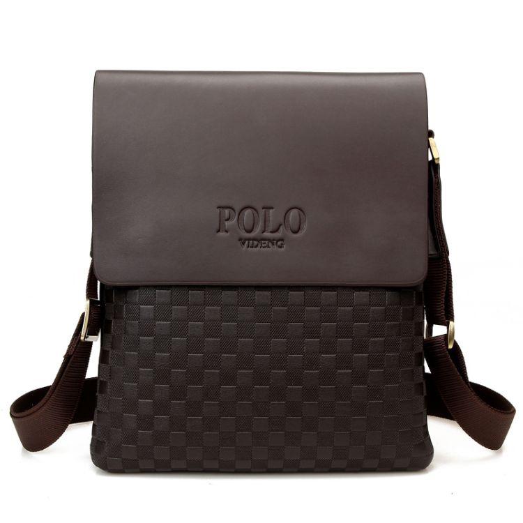 时尚休闲男包保罗单肩包男式背包斜挎商务皮革包竖款外贸男士包包
