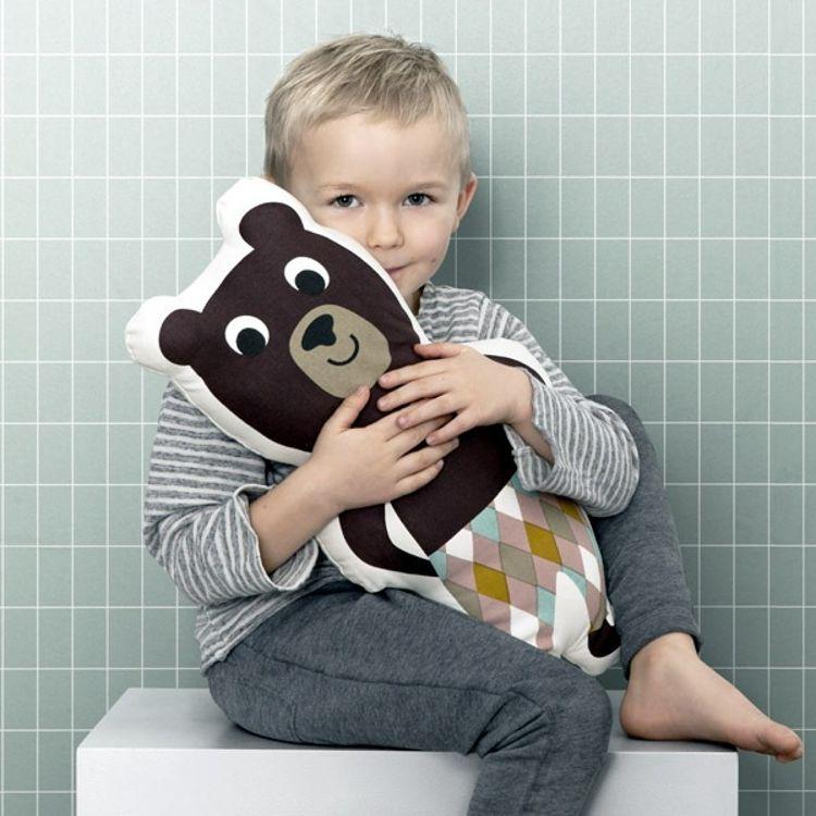 ins熊先生机器人抱枕全棉儿童枕北欧风可爱小熊公仔