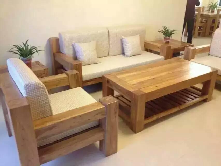 特价厂家直销高档老榆木沙发办公家具大小户型实木沙发客厅组合