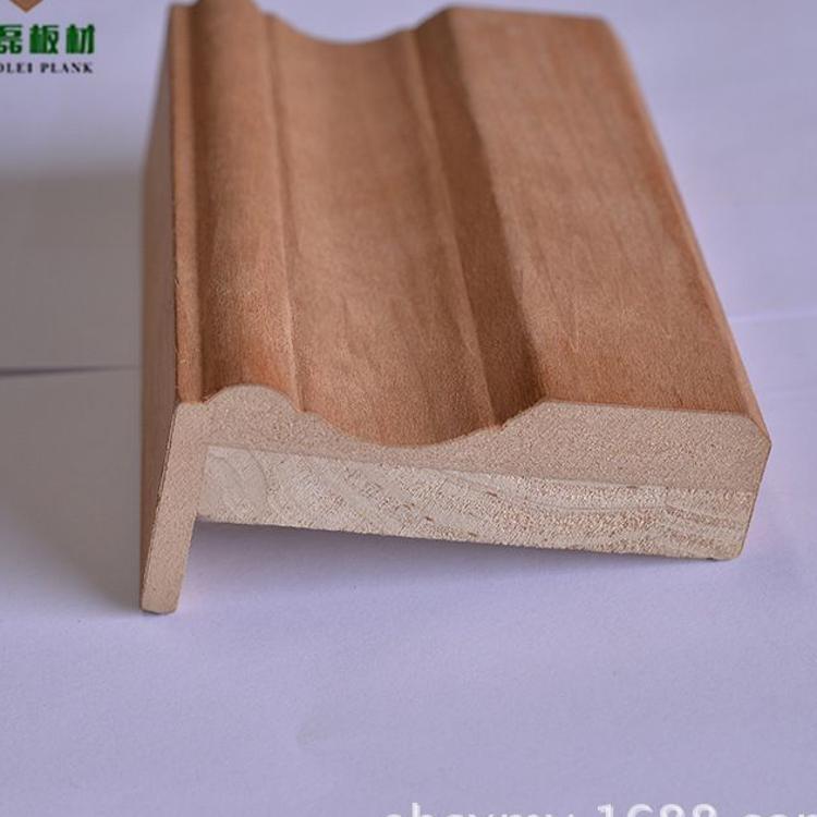 厂家直销 实木复合贴皮门套线 踢脚线 贴皮线条 包覆线木线条