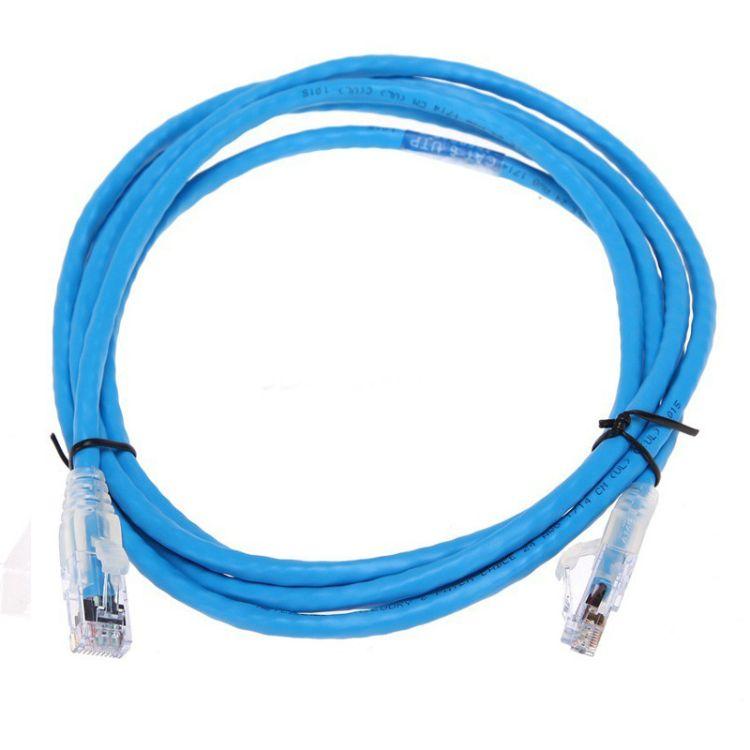 AMP六类跳线 安普网络1.5米超五类非屏蔽网线 1859247-5 5英尺成