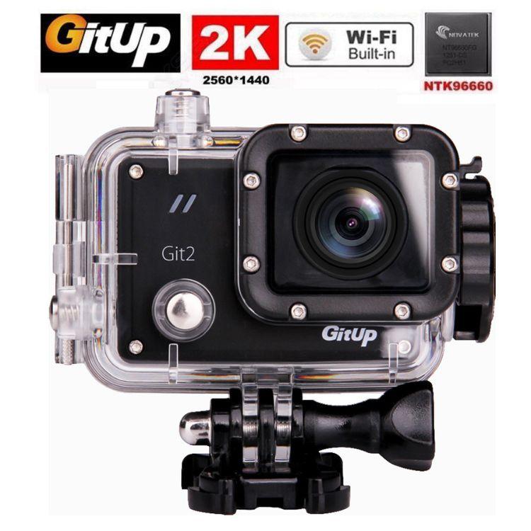 外贸热销 Gitup Git2 高清2K防水运动相机户外登山潜水运动摄像机
