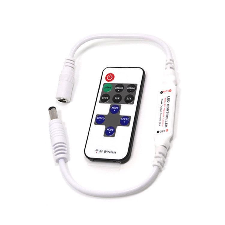 DC头RF无线遥控器 12-24V遥控调光器 LED11键PMW射频遥控器