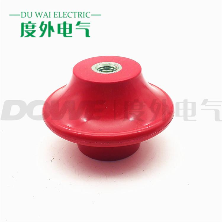 DOWE 度外电气 高强度红色树脂蝶形绝缘子DW100*65*M16 非标绝缘子定制
