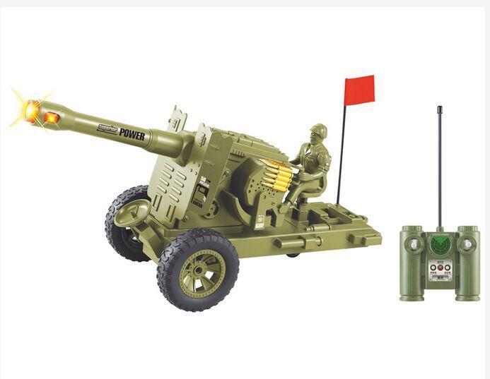 美智6605遥控坦克车 遥控防高射炮 大炮车领空卫士 男孩生日礼物