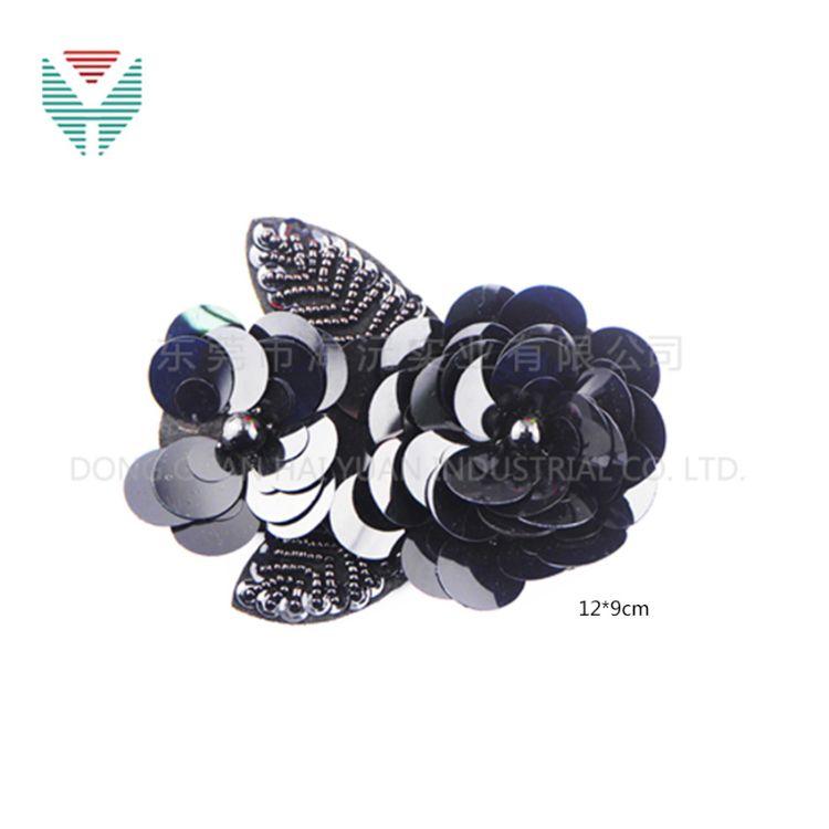 工厂直销 高端刺绣布贴 珠片章 胸花 胸针 饰品配件 可定做