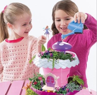 爆款 DIY童话花园魔法小屋过家家儿种植盆栽男孩女孩过家家玩具