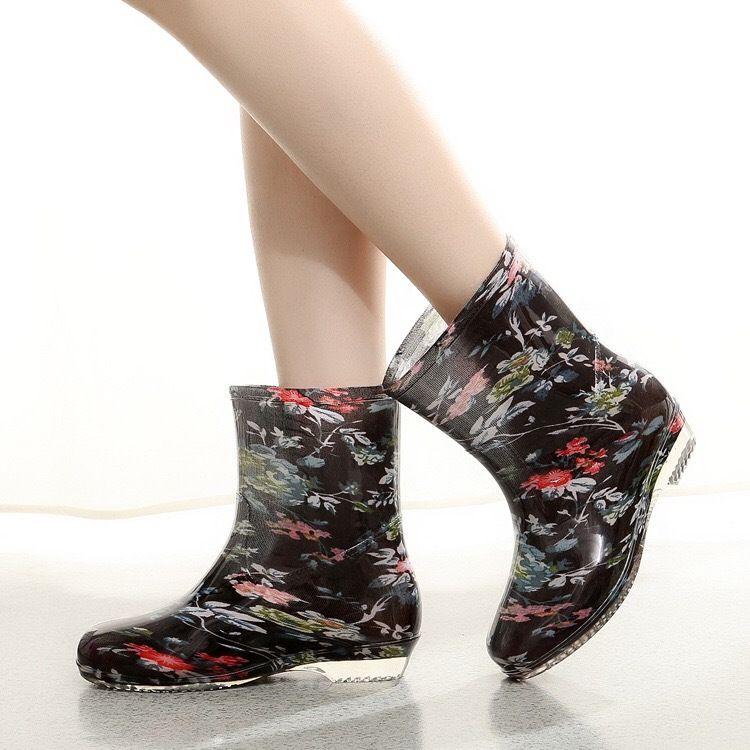 2018新款女式女士雨鞋雨靴水鞋中筒PVC胶鞋防水成人厨房鞋