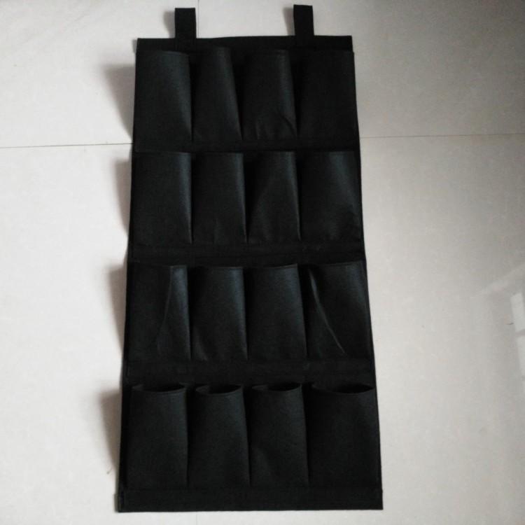 新品门后多层收纳鞋挂袋墙上布艺收纳挂袋鞋靴罩储物挂袋