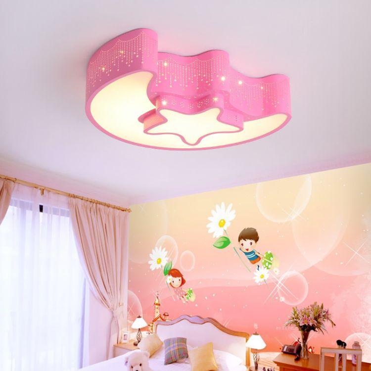 创意卡通星月led客厅卧室灯现代简约亚克力吸顶灯室内照明新款