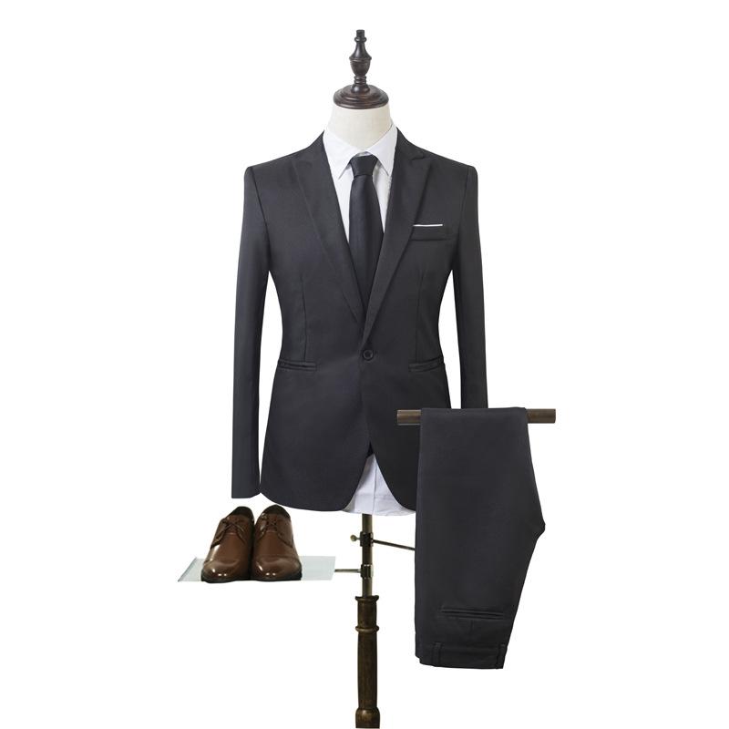 时尚休闲商务西服套装 韩版修身男装 西装