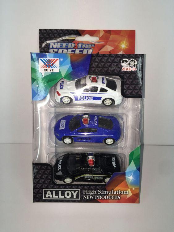 8.5CM合金车模儿童玩具警车回力小车模型小铁车小轿车迷你型批发