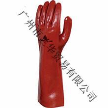 代尔塔 PVCC400 201402 红色 PVC 防化加强硫化手套 40厘米长