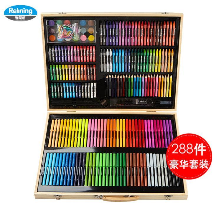 新款欧洲瑞莱茵水彩笔儿童绘画笔套装填色笔幼儿园涂鸦笔蜡笔批发