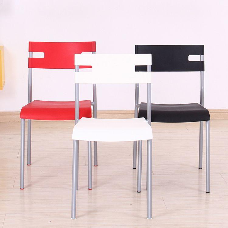 现代简约椅子家用餐椅休闲电脑椅子靠背塑料餐椅 售楼处洽谈椅