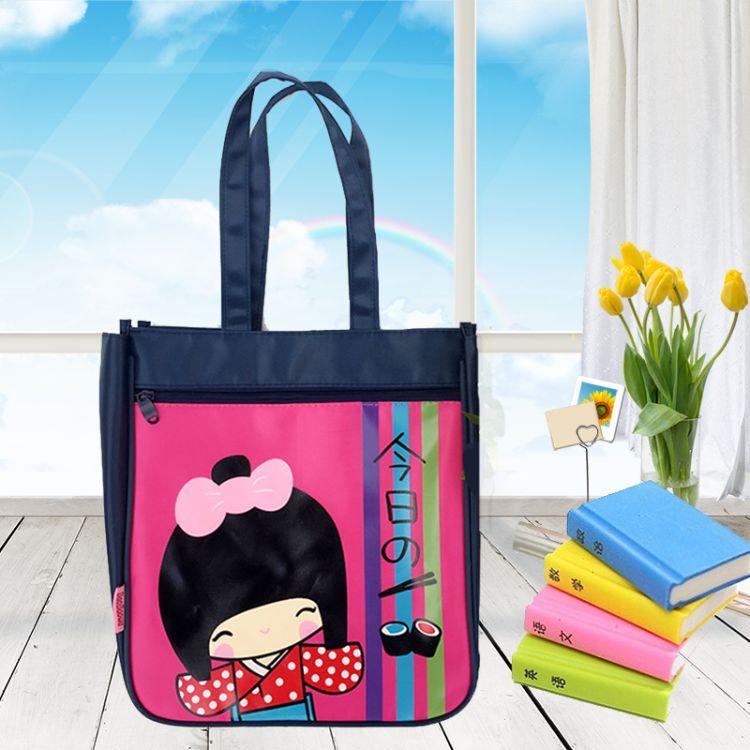 工厂直销小学生A4补习袋手提袋牛津布美术袋儿童补习包补课包手拎