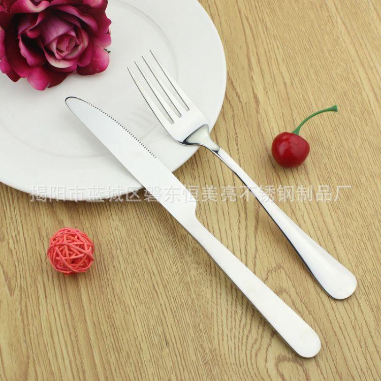304不锈钢餐具 牛排刀叉 西餐厅用品 镜面抛光 淘宝热销 厂家直销
