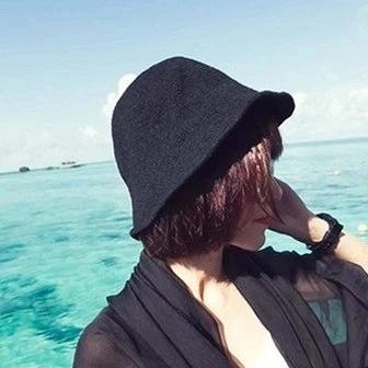 2017夏季帽子女士小禮帽純色亞麻漁夫帽韓國潮出游防曬折疊遮陽帽