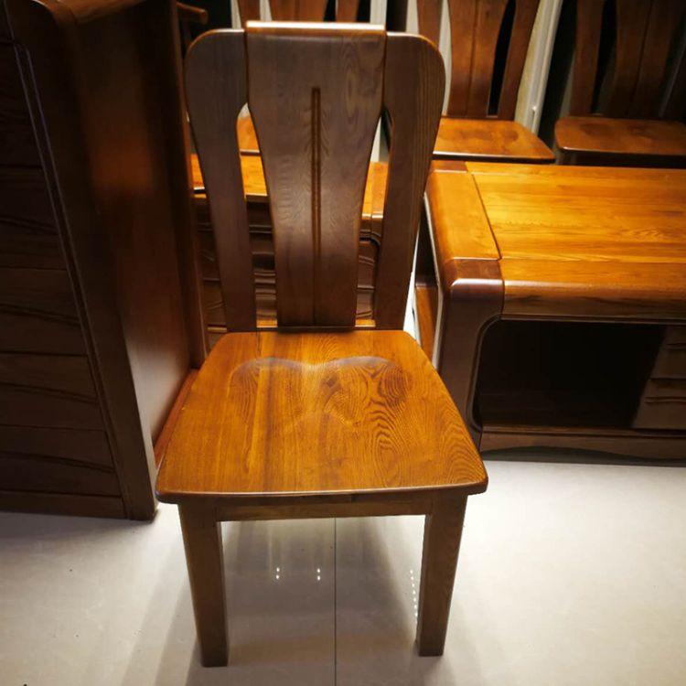 水曲柳实木椅子 北欧休闲椅 实木靠背椅咖啡餐椅 酒店餐厅椅子
