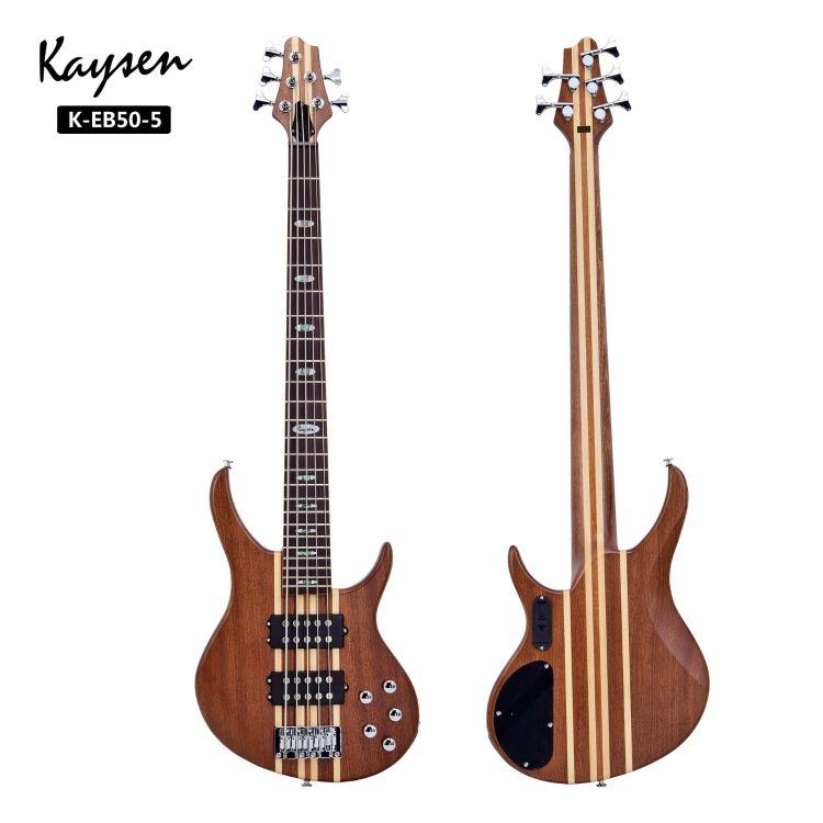 厂家批发 双双拾音器 高端专业级正品五弦贝司bass 琴体沙比利