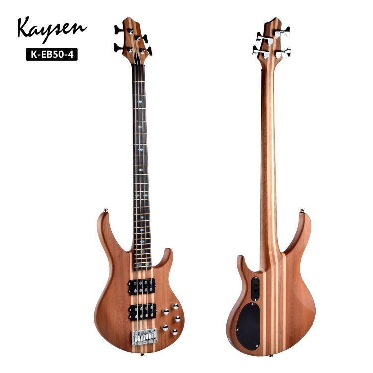专业级别连体4弦bass 厂家直销连体电贝斯 正品贝司  双双拾音器