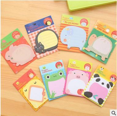 T韩国创意文具可爱卡通ZOO动物乐园可撕便签本便利贴幼儿N次贴