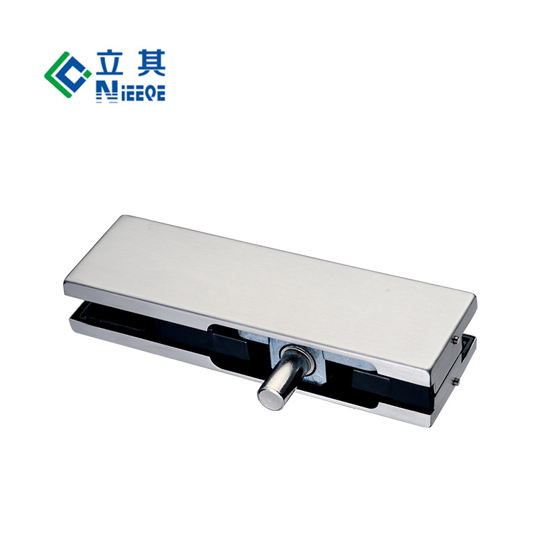 1003厂家批发铝合金芯下门夹 不锈钢玻璃门 固定夹门窗五金拉手