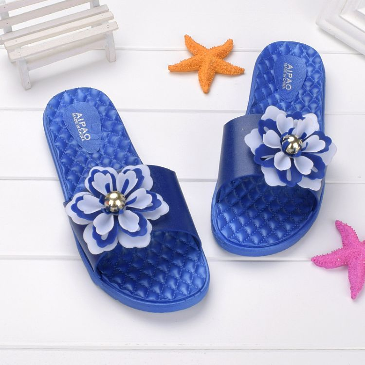 时尚休闲沙滩女士凉拖鞋 平底糖果色一字拖女拖鞋 订货