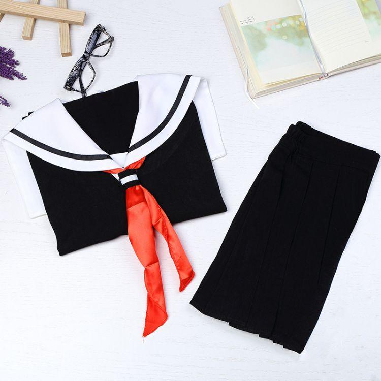高端日系JK制服一本软妹关西襟水手服短袖学生装中间服套装