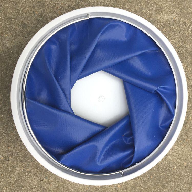多功能加厚折叠水桶钓鱼车载折叠水桶91113L洗车用品批发24cm直径