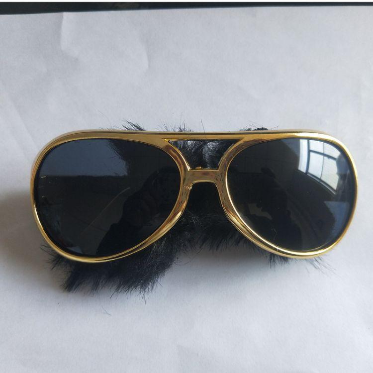 舞会派对眼镜 猫王鬓角胡须名牌太阳镜 成人眼镜 胡子框镜
