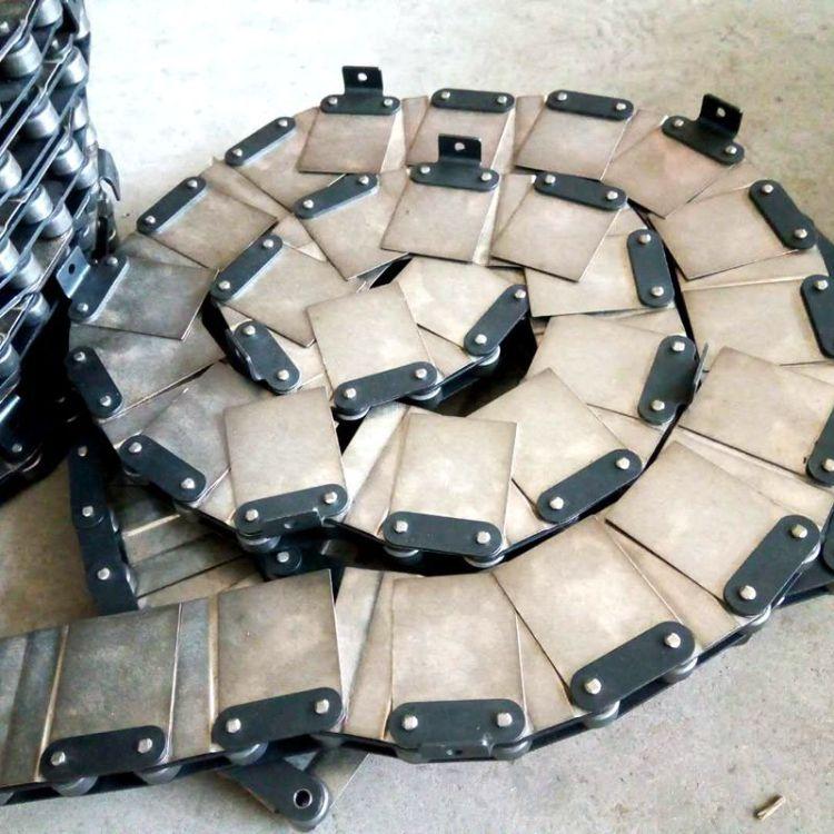 博辉批发碳钢铁链条 驱动双节距弯板输送链条 工业输送链条价格