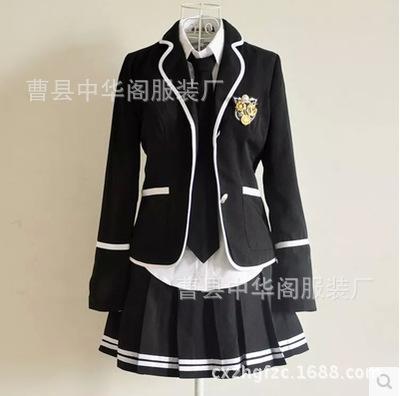 厂家秋冬新款日韩女生校服套装 可爱学院派裙子水手校服套装代发
