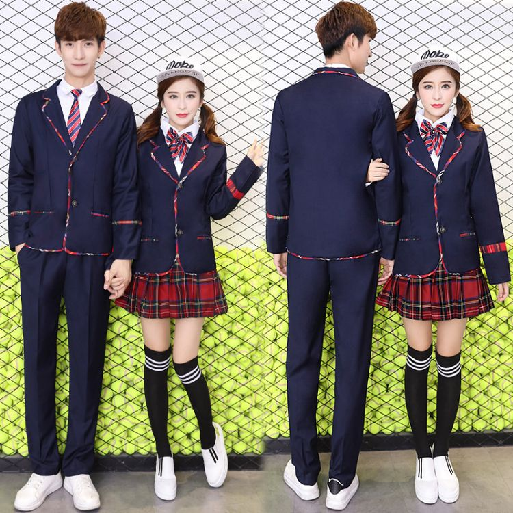 校服套装学院风韩国长袖秋冬季外套高中学生英伦大学生班服套装