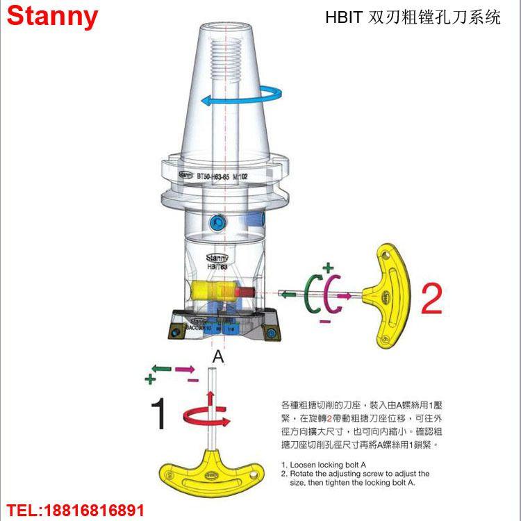世邦STANNY HIBT双刃粗镗孔刀 BT50-HBIT80E-302 优势批发